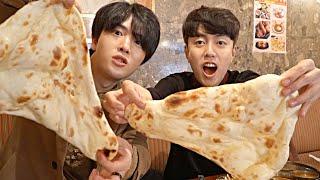 Trying INDIAN food in JAPAN!!? | Korean Dost Mukbang