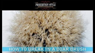 Prohibition Style: How To Properly And Quickly Break In A Boar Hair Shave Brush