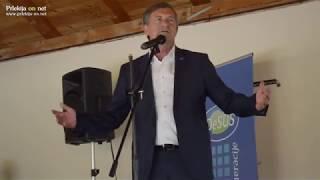 Karl Erjavec na srečanju članov in simpatizerjev stranke DeSUS