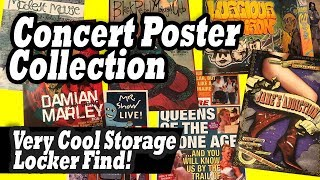 Concert Poster Collection Found In The Locker I Bought At The Abandoned Storage Locker Auction