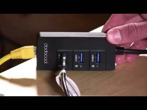 Dodocool USB 3.0 hub with Built In Ethernet Adapter Review