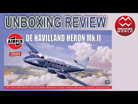 Vintage Classic De Havilland Heron MkII 1:72 Plastic Model Kit AIRFIX