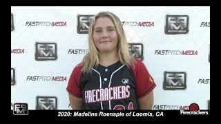 2020 Madeline Roenspie Catcher and Third Base Softball Skills Video