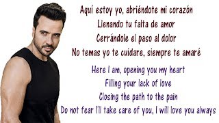 Luis Fonsi - Aqui Estoy Yo Lyrics English and Spanish - ft Aleks Syntek, Noel Schajris, David Bisbal