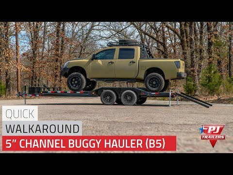 2021 PJ Trailers 5 in. Channel Buggy Hauler (B5) 16 ft. in Hillsboro, Wisconsin - Video 1