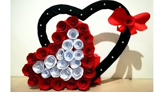 DIY Paper Heart Wall Decoration//Easy Valentines Gift Ldea//DIY Anniversary Gift Idea// Paper Craft