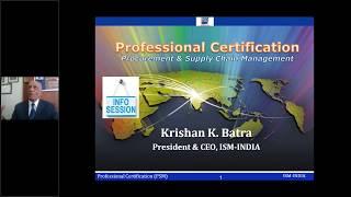 Procurement & Supply Chain Management (PROFESSIONAL CERTIFICATION)