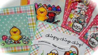 Cute Easter Cards & Shaker Tags