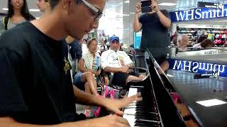 L' Amour Toujours | Gigi D'Agostino - PIANO COVER (live in airport)