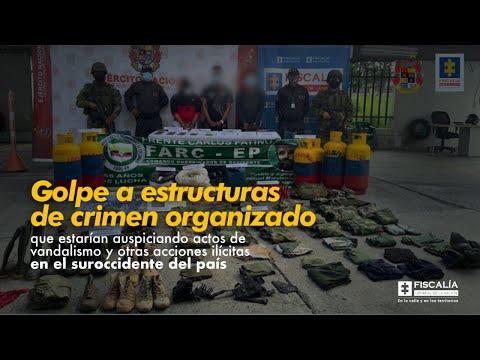 Fiscal Barbosa:Golpe a estructuras de crimen organizado que estarían auspiciando actos de vandalismo