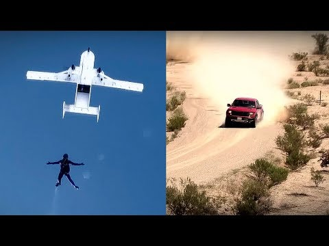Ford Raptor versus Parachutist | Top Gear USA