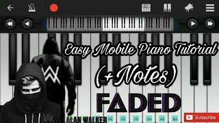alan walker faded easy mobile perfect piano tutorial - TH-Clip