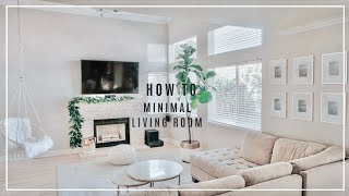 How To Create MINIMALIST LIVING ROOM From Cluttered To Minimal | Steps To Pinterest Living Room