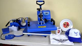 Sapphire 6-in-1 Heat Press Machine Tutorial - How to use Sapphire 6-in-1 Heat Press Machine