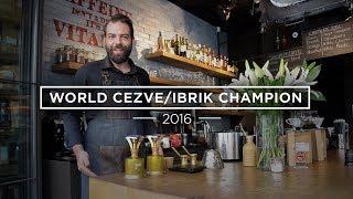 How To Make Cezve/Ibrik Coffee: Konstantinos Komninakis (2016 World Ibrik Champion)