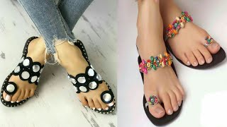 BEAUTIFUL FLAT SANDALS COLLECTION 2019 || DESIGNER FLAT SANDALS || FOOTWEAR