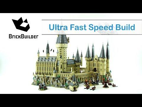 Ultra Fast Speed Build Hogwarts Castle - Second Biggest set Ever 6020 - Harry Potter 71043