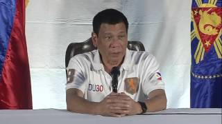 President Rodrigo Roa Duterte - Press Conference at DPWH Panacan Depot, Davao City 8/21/2016