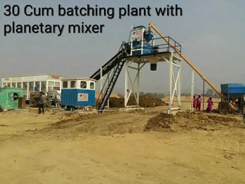 RMC Batching Plant With Twin Shaft Mixer