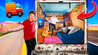 REAL LIFE BOX FORT TRUCK!! (24 Hour Challenge)
