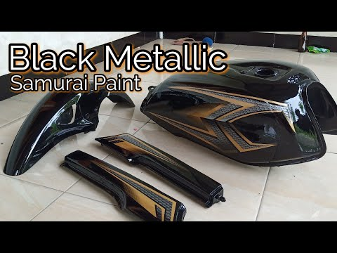 Repaint Full Body Honda GL MAX Warna Hitam Metalik Samurai Paint
