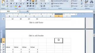 Microsoft Excel - How to insert page numbers on worksheets   1 of 2