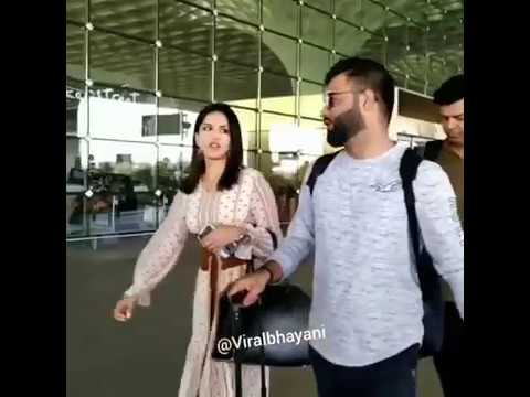 A video of Virat Kohli and Sunny Leone at Mumbai airport triggers a storm in social media networks