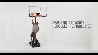 "54"" Acrylic Hercules® Exactaheight™ Portable Hoop System"