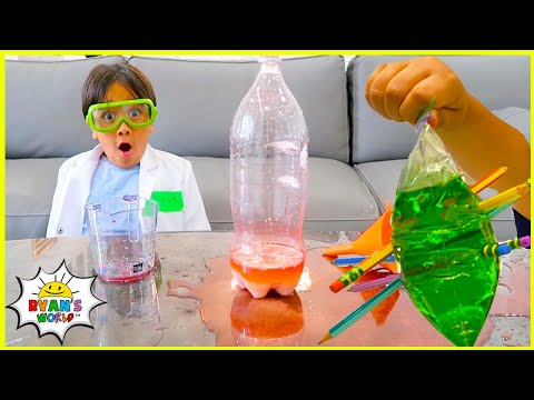 Top Easy DIY Science Experiments for Kids to do at home with Ryan's World!!