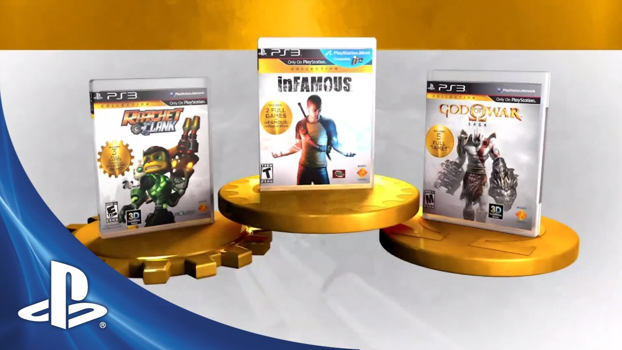 PlayStation Collections Available at Retail Today: God of War, inFAMOUS, Ratchet & Clank