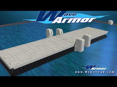 Wave Dock With Unique H Beam Attachment System