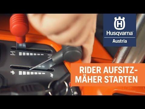 Husqvarna - So startet man einen Rider-Aufsitzmäher