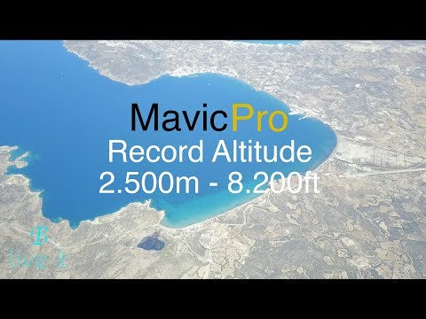 DJI Mavic Pro Record Altitude 2.500m - 8.200ft - How to check wind speed