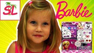 Barbie Набор детской КОСМЕТИКИ Барби. Девочка сама красится. ШОК :)