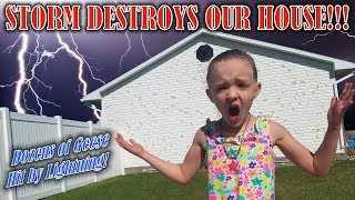 Worst Hail Storm Ever Destroys Our House and Geese Get Struck by Lightning!!! (Not Clickbait)