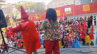 Animación en la escuela por carnaval, Barcelona