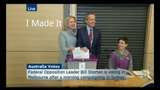 Bill Shorten Teaching Wife How to Vote -2016 Live Australia Election