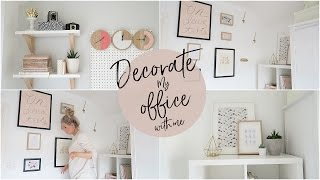 Decorate My Office With Me! | Kate Murnane