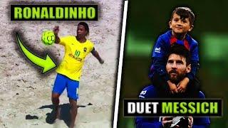 Ronaldinho Powrócił i ZADZIWIA w PIŁCE PLAŻOWEJ... Niesamowite relacje Messiego z Synkiem Thiago