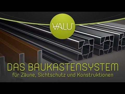 NEU: VALU - Das Aluminiumprofilsystem für Sichtschutzwände und Zäune