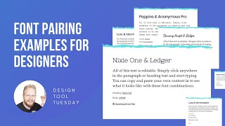 Font Pairing Library For Product Designers - Design Tool Tuesday, Ep56
