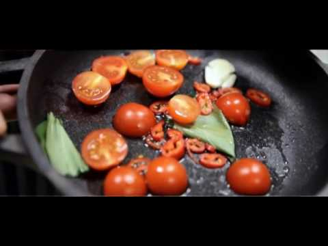 Video Malloreddus with clams, basil, chilli, cherry tomatoes & bottarga Charcoal oven - Engels