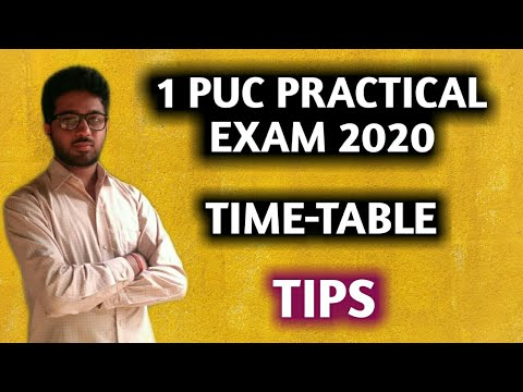 1st PUC PRACTICAL EXAM 2020 TIMETABLE and TIPS   PHYSICS, CHEMISTRY, BIOLOGY, CS, LAB EXAM