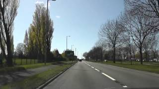 preview picture of video 'Driving Along Park Lane, Dunnings Bridge Road & Church Road, Bootle, Liverpool, UK 15th April 2012'