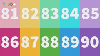 Vui học cùng Bé Bí Bo - Bé học đếm số từ 81 đến 90 thật vui, hấp dẫn và bổ ích