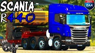 Euro Truck Simulator 2 - Scania R440 8x2 - Mapa EAA - Logitech G27