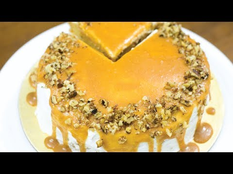 EGGLESS CARROT CAKE RECIPE I Without Oven