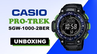 Casio Pro Trek SGW-1000-2BER Unboxing HD