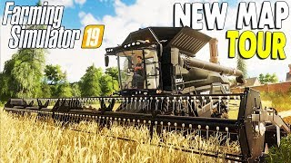 FARMING SIMULATOR 19 | New Map First Look, Features, Crops, & Vehicles Gameplay