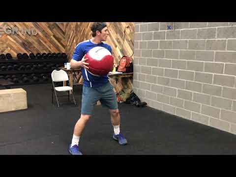 Medicine Ball Rotational Scoop Toss Through Swing